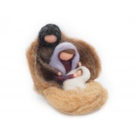 Belén de lana cardad