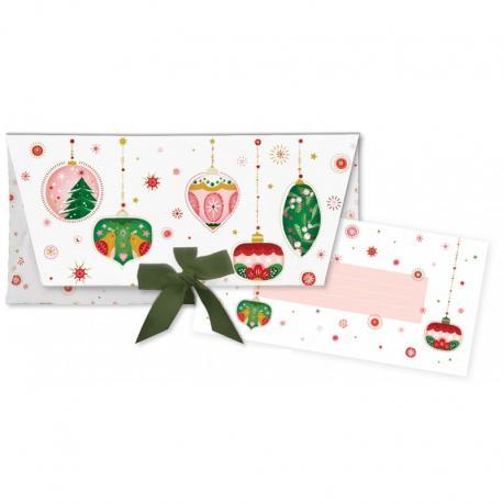 Sobre regalo con tarjeta Bolas