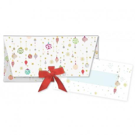 Sobre regalo con tarjeta Bolitas de Navidad