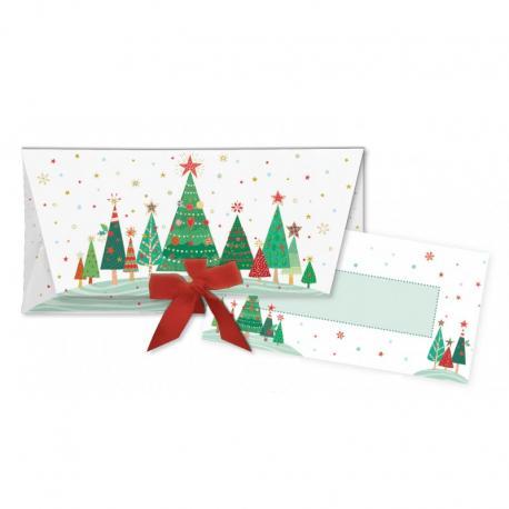 Sobre regalo con tarjeta Bolas de Navidad