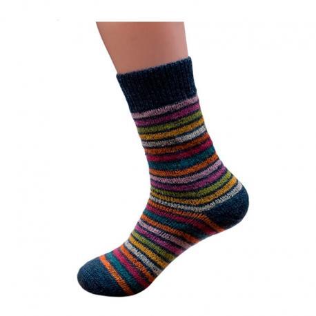 Calcetines de pura lana arco iris