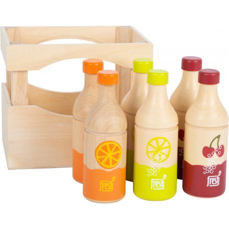 Caja de botellas de madera