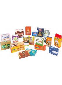 Cajas plegables de productos de marcas para tiendas