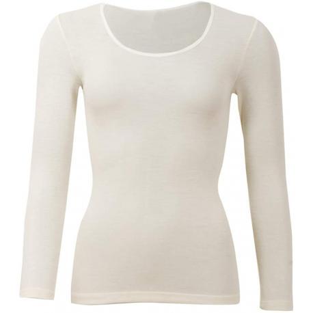 Camiseta de lana y seda