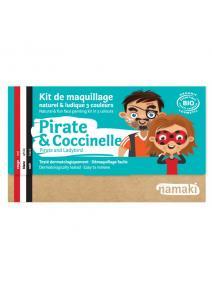 Kit de maquillaje infantil Pirata y mariquita