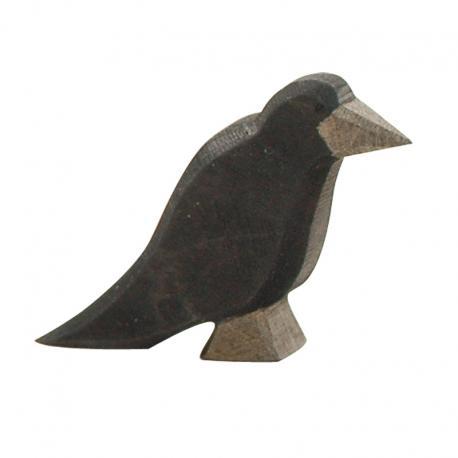 Cuervo pajaro de madera Ostheimer