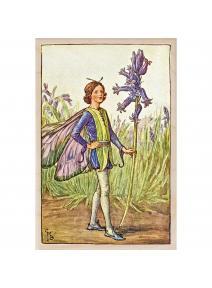 Postal de madera Hada Flor de campanilla