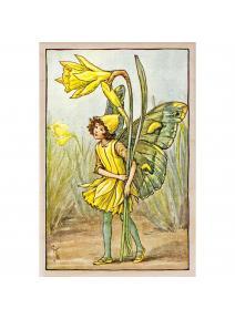 Postal de madera Hada Narciso