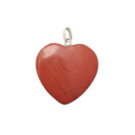 Colgante corazón Jaspe Rojo