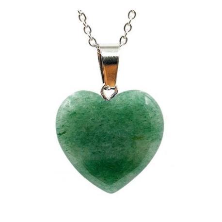Colgante corazón Cuarzo verde