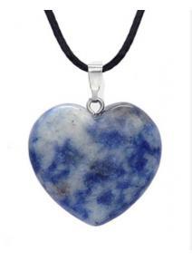 Colgante corazón Cuarzo Azul