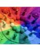 Alfombra de lana arcoíris
