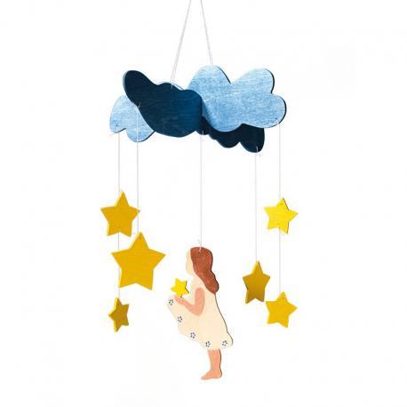 Móvil lluvia de estrellas.