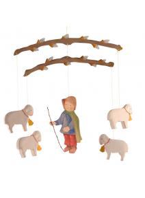 Móvil de madera Pastorcillo
