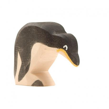 Pingüino cabeza abajo.