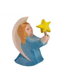 Angel azul con estrellita.