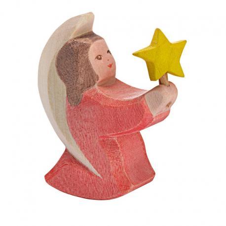 Angel rojo con estrellita.