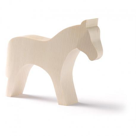Animales de madera base - caballo.
