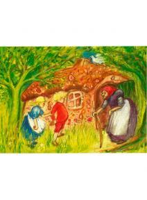 Postal - Hansel y Gretel.