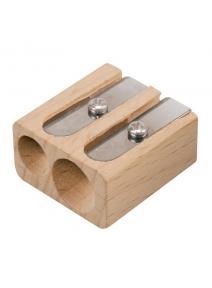Sacapuntas doble de madera