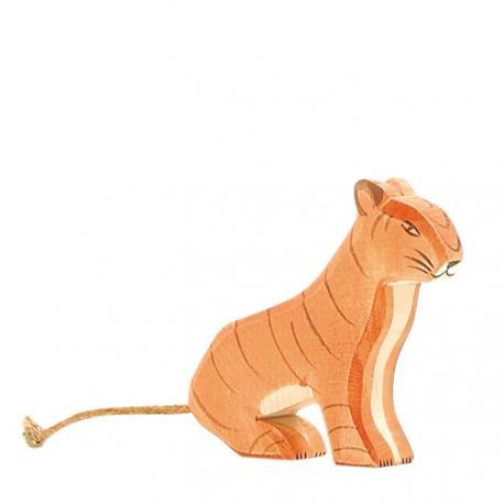 Tigre de madera sentado