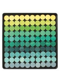 Puzzle magnético - Circulos en tonos verdes.