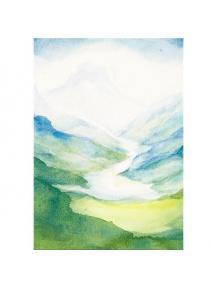 Postal Montaña con valle