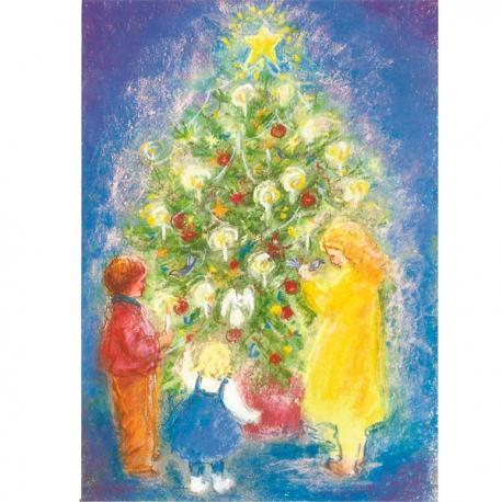 Postal Árbol de Navidad