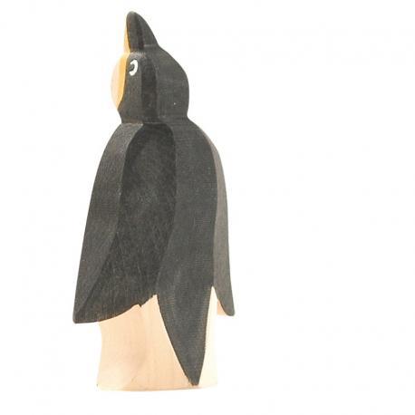 Pingüino pico arriba.