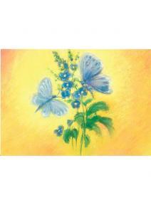 Postal Mariposas azules