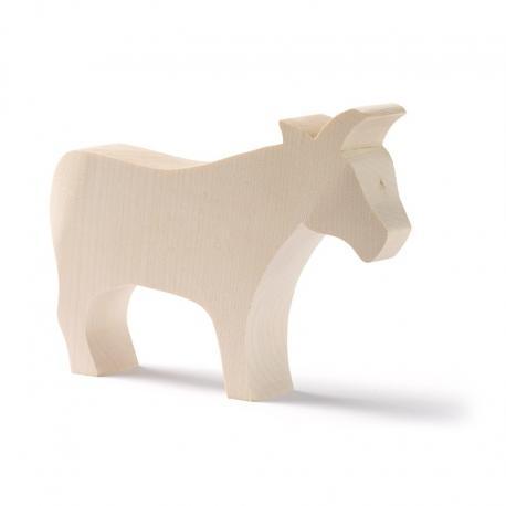 Animales de madera base - vaca.