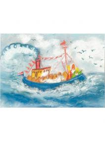 Postal San Nicolas en el barco