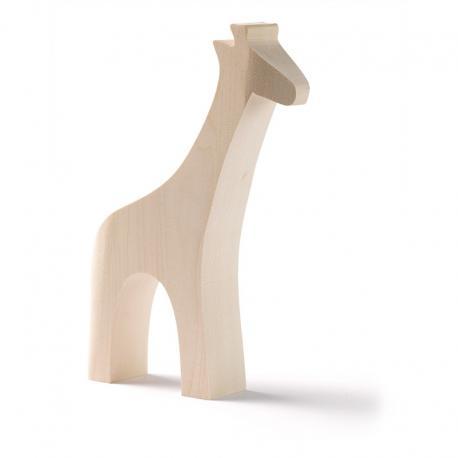 Animales de madera base - jirafa.