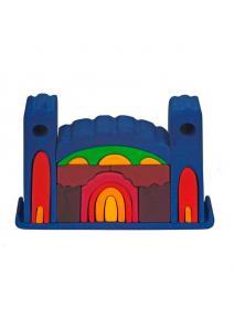 Castillo de madera grande azul