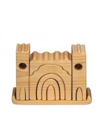 Castillo de madera pequeño natural