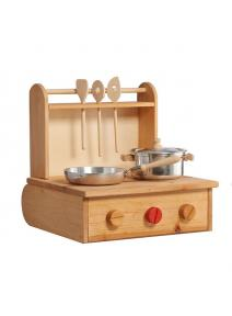 Cocina de madera plegable
