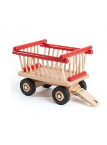 Remolque de madera para heno