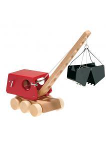 Excavadora de madera y doble brazo