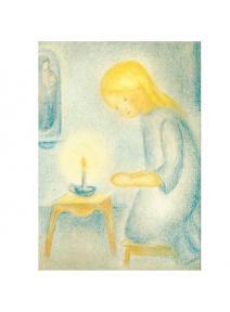 Postal - La niña rezando
