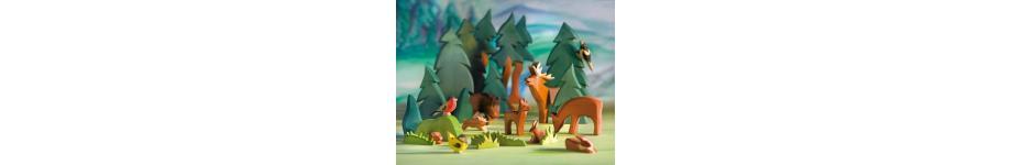 Animales de campo de madera